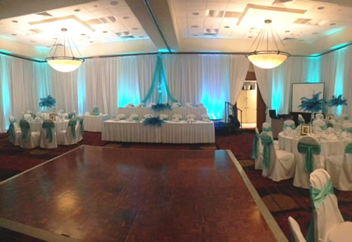 Teal Head Table