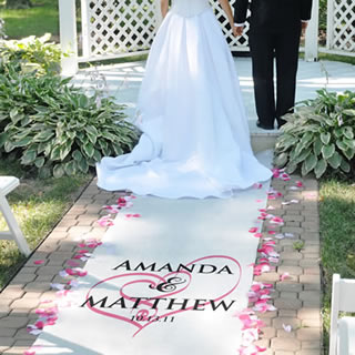 personalized aisle runners